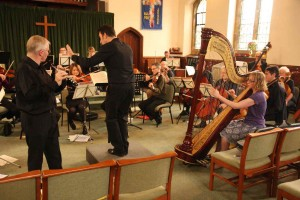 Rehearsing the Mozart Flute and Harp Concerto